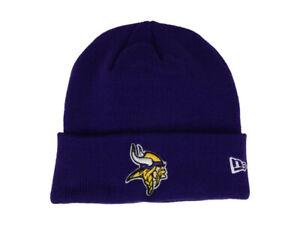 New Era Minnesota Vikings Basic Logo Knit Beanie Hat Cap - Purple