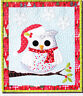 SALE - PATTERN - Owl be Home For Christmas - fun applique wall quilt PATTERN