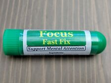 FOCUS FIX Essential Oil Personal AROMATHERAPY Inhaler: Supports Mental Attention