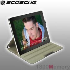 Scosche FoldIO Fold IO P2 Black Leather Texture Case for Apple iPad 4 3 2