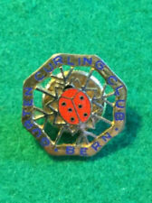Vintage Sports Curling Enameled Pin Gurten Curling Club Bern Switzerland ladybug