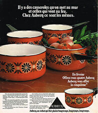 PUBLICITE ADVERTISING 074  1976  AUBECQ   casseroles