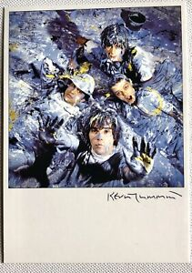 STONE ROSES  POSTCARD SIGNED BY KEVIN CUMMINS AUTOGRAPHED