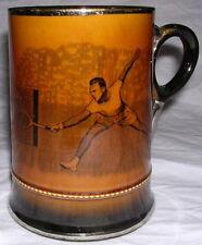 Tennis Tankard Mug Stein Silver Lustre Arthur Wood Royal Bradwell Sports Series