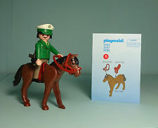 Playmobil Police/Polizei ~ Policeman and Horse/Polizist und Pferd(3163) & Manual
