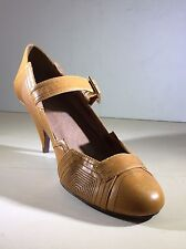 Sole Project By Bakers Yellow Art Deco Maryjane Heels Size 7M Cute Spring