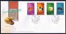 Hong Kong 2009 Zodiac Series Lunar New Year of the Ox, 4v Stamps on FDC