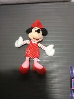 "18"" Disney Minnie Mouse Plush Doll Rd Dress w/Dots Red XOXO Valentine's Heart"