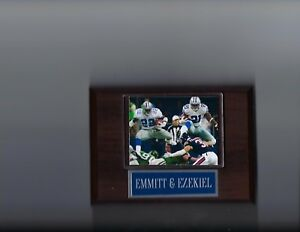 EMMITT SMITH & EZEKIEL ELLIOTT PLAQUE DALLAS COWBOYS FOOTBALL NFL
