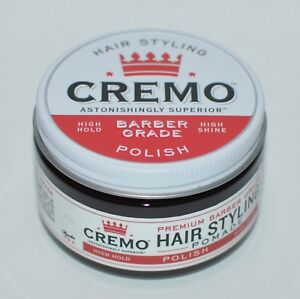 Neuf Cremo Coiffure Cheveux Pommade Premium Barbier Grade Vernis Haut Éclat Tenu