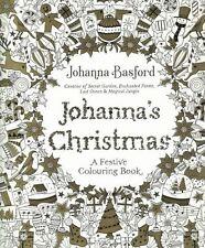 Johanna's Christmas A Festive Colouring Book by Johanna Basford NEW