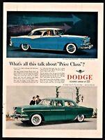 1955 DODGE Custom Royal Lancer Blue and White 2-dr Hardtop Vintage Car Photo AD