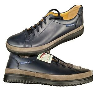 Mephisto Thomas mens Sneakers Navy blue gray Leather comfort lace up shoes US 8