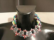 UNBRANDED woman's necklace funny summer theme multicolored knotted adjustable