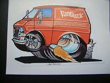 '69 -'74  2nd Generation Ford Econoline Sticker in Orange