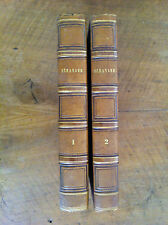BERANGER - GRANDVILLE - Oeuvres complètes, Tomes I et II (sur III). Illustré