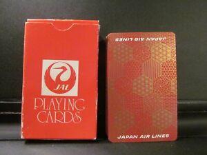 vintage JAPAN AIRLINES JAL playing cards full deck 52 + joker