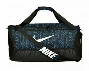 Nike BRASILIA 60 L Training Duffle Bag (Blue/Black/White) Size Medium