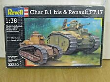 REVELL 03220 1/76 Char B.1 bis & RENAULT FT.17 Tanks * NEW & FACTORY SEALED *