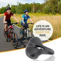 AU Dual-spring Bike Bicycle Wide Big Bum Soft Extra Comfort Saddle Seat Pad New