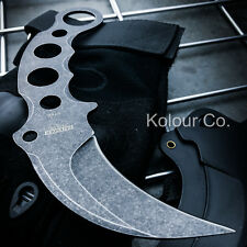 FULL TANG TACTICAL COMBAT KARAMBIT NECK KNIFE Survival Hunting BOWIE Fixed Blade