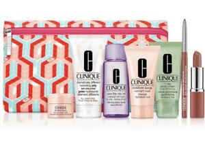 New Sealed Clinique 8 Travel Set Gift With Purchase Makeup Enlighten Up Kit $107