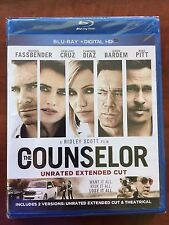 The Counselor (Unrated Extended Cut) Blu-ray New Free Ship