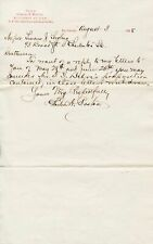 1888 Handwritten Signed Letter Baltimore Attorney Charles A. Boston