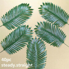 40pc Artificial Tropical Single Leaves Stem Phoenix Palm Faux Coconut Branch