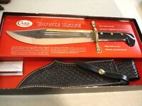 CASE XX USA 1984 BOWIE KNIFE WITH SHEATH IN BOX