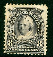 USA 1902 Garfield 8¢ Black Scott # 306 Mint I947 ⭐⭐⭐⭐⭐⭐