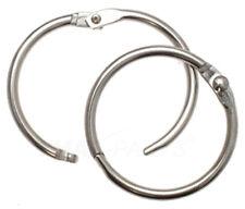 10 Stück Schlüsselringe Aufklappbar 76mm / 82mm Heftringe Schlüsselring Heftring