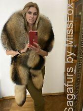 Saga Highest quality Finnracoon  fur double side stole.