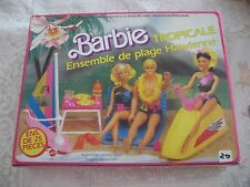 TROPICAL HAWAIIAN SURF SET BAMBOLA BARBIE MATTEL 1986 COD 801 NEW AND SEALED