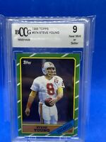 1986 Topps #374 Steve Young HOF Rookie RC Graded BCCG 9 NM-Mint - 49er's 🔥