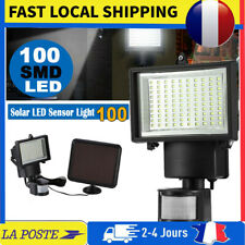 Lampe solaire à 100 LED avec lampe à capteur de mouvement à capteur infrarouge