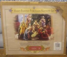 Grandeur Noel Hand Painted Porcelain Nativity Set Collector Edition 2002