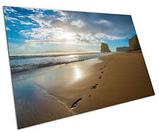 FOOTPRINTS IN THE SAND WALL ART LARGE A1 POSTER 33 X 23 INCH