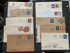 Big Lot x26 Gb Covers 1920s-70s Perfin Stamps ! Collection Great Britain Perfins
