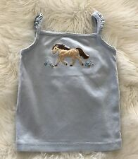 GYMBOREE Malibu Cowgirl Blue Horse Tank Top Size 3T