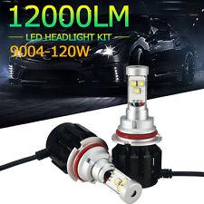 2X 120W 12000LM CREE LED Headlight Kit 9004 HB1 High/Low Beam White 6000K Bulbs