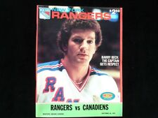 October 25, 1981 New York Rangers vs Montreal Canadiens Hockey Program - EX+