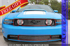 GTG 2010 - 2012 Ford Mustang GT 4PC Polished Overlay Combo Billet Grille Kit