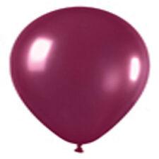 "12 Crystal Burgundy Latex Balloons Helium Grade 11"""