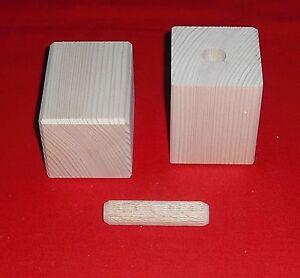 2er Set, Möbelfüße, Möbelfuß, Schrankfüße, Holz, Kiefer, Fichte, versch. Größen