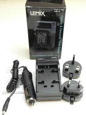 Lemix UK & EU Mains & Car Digital Camera Battery Charger for Canon NB9L NB-9L
