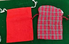 """10 drawstring Gift Pouches  Party Favours Jewelry Bags  5"""" x 7"""""""