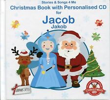 CHRISTMAS BOOK WITH PERSONALISED CD FOR JACOB / JAKOB - STORIES & SONGS 4 ME