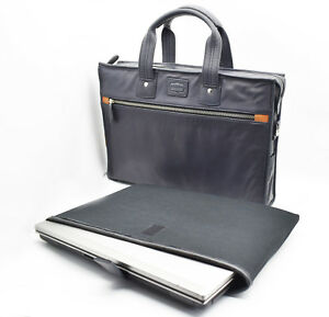 Leather Executive Laptop Bag Messenger Business Office Work Bag Travel Case