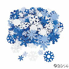 400PC SNOWFLAKEs DECORATIONS CRAFTS FROZEN Winter Wonderland Decor Party Fun NEW